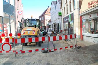 Stadt Cuxhaven - Baustellenmoderation für die Fußgängerzone